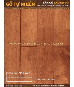 rubber red wood 900mm