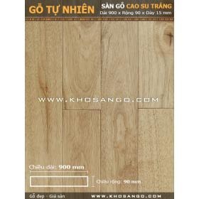 Sàn gỗ cao su trắng 900mm