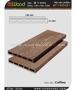 ván sàn ngoài trời AT140x21 coffee