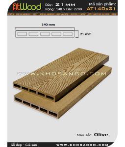 ván sàn ngoài trời AT140x21 olive
