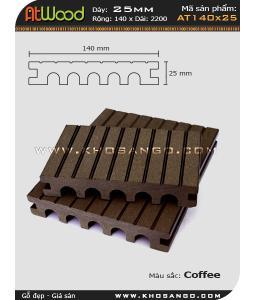 ván sàn ngoài trời AT140x25 coffee