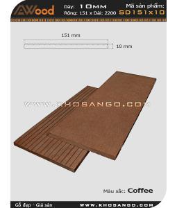 Gỗ nhựa Awood  SD 151x10_cafe