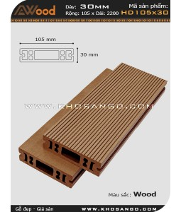 Sàn gỗ Awood  HD 105x30_wood