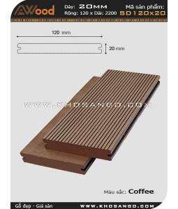 Sàn gỗ Awood SD120x20-coffee