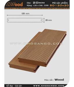 Sàn gỗ Awood  SD 120x20_Wood