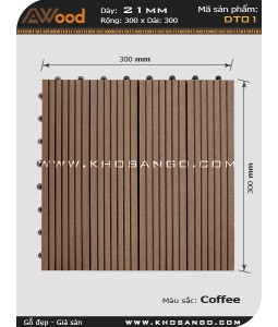 Vĩ gỗ lót sàn Awood DT01_cafe