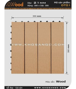 Vĩ gỗ lót sàn Awood DT01_vân gỗ K1