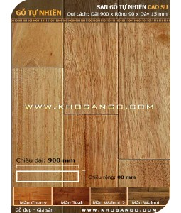 Rubber wood flooring 900mm