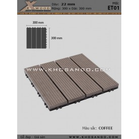 Vỉ Gỗ Nhựa Exwood ET01-4-coffee