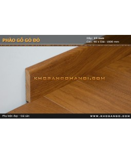 Red wood skirting