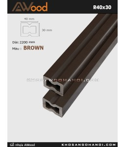Awood Railing R40x30-brown