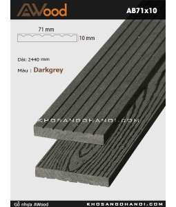AWood AB71x10-darkgrey