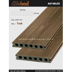 Sàn gỗ Awood AU140x23-Teak