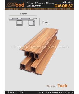 Sàn gỗ Awood GW-QBI37-Teak