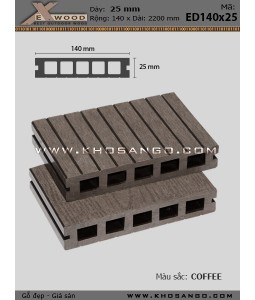 Sàn gỗ Exwood ED140x25-5-Coffee