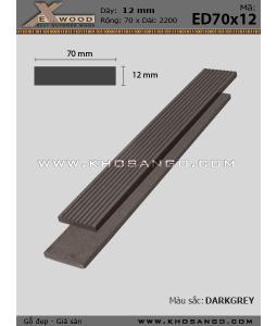 Lam Exwood ED70x12-darkgrey