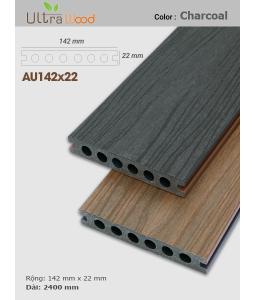 Sàn gỗ UltrAwood UA142x22 Charcoal