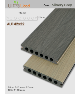 Sàn gỗ UltrAwood UA142x22 Silvery Grey
