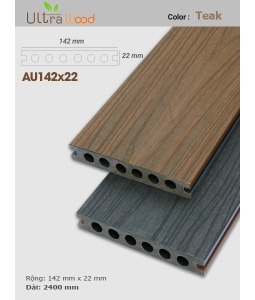 Sàn gỗ UltrAwood UA142x22 Red Teak