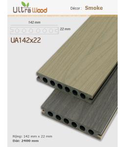 Sàn gỗ UltrAwood UA142x22 Smoke