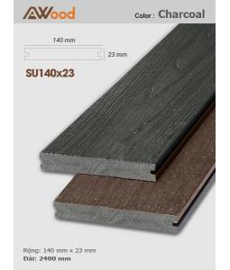 Sàn gỗ UltrAwood SU140x23 Charcoal