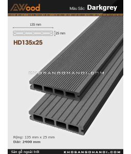 Sàn gỗ Awood HD135x25-4-darkgrey
