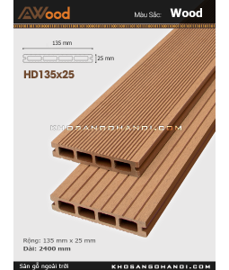 Sàn gỗ Awood HD135x25-4-wood