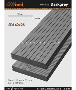 Sàn gỗ Awood SD140x25-darkgrey