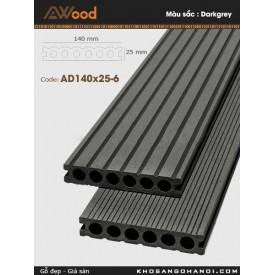 Sàn gỗ Awood AD140x25-6-Darkgrey