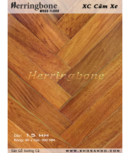Wooden floor of fishbone