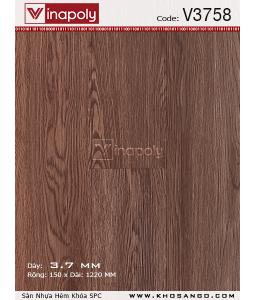 Vinapoly Spc vinyl flooring V3758