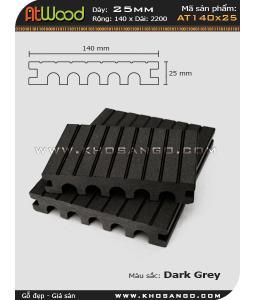 ván sàn ngoài trời AT140x25 Dark grey