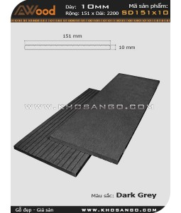 Awood Decking SD151x10-darkgrey