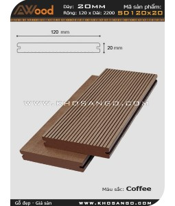 Sàn gỗ Awood SD120x20-coffee