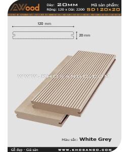 Sàn gỗ Awood SD120x20-whitegrey