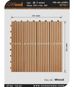 AWood Decking Tile DT01 Wood