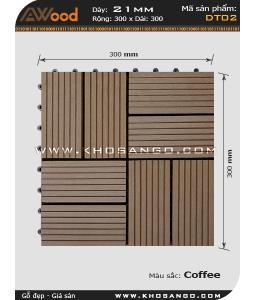 Vĩ gỗ lót sàn Awood DT02_cafe