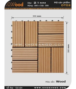 Awood Decking Tile DT02_wood