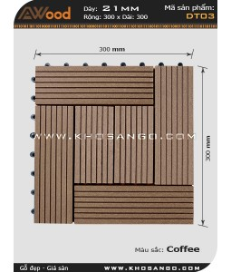 Awood Decking Tile DT03_coffee