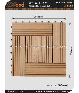 Vĩ gỗ lót sàn Awood DT03_vân gỗ