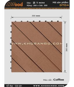 Vĩ gỗ lót sàn Awood DT04_cafe