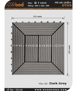 Vĩ gỗ lót sàn Awood DT05_xám