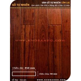 Sàn gỗ  cẩm lai 450mm