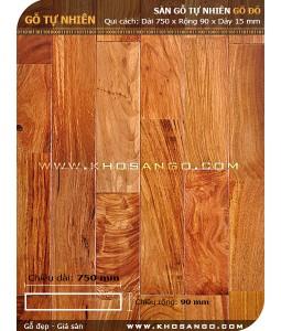 Sàn gỗ gõ đỏ 750mm