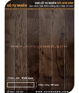Dark brown Oak hardwood flooring 450mm