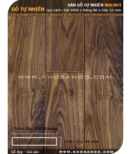 Walnut hardwood flooring 1050mm