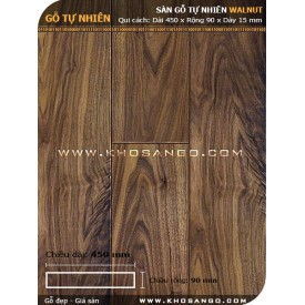 Sàn gỗ  Walnut ( óc chó ) 450mm