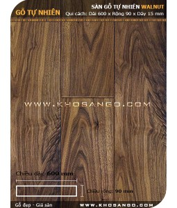 Walnut hardwood flooring 600mm
