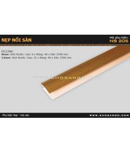 Nẹp nhựa nối sàn NS-205-12mm