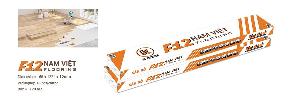 hộp sản phẩm sàn gỗ f12 nam việt